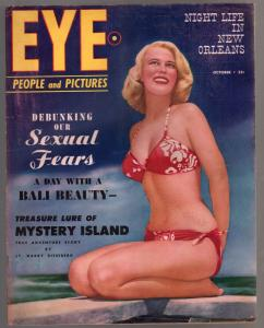 Eye #8 10/1950-Atlas-Barbara Freking-Gina Lollobrigida-Irving Klaw-VG
