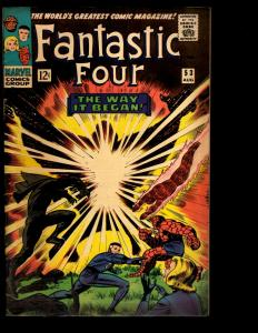 Fantastic Four # 53 FN Marvel Comic Book Silver Surfer Galactus Thing Doom NE3
