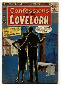 Confessions Of The Lovelorn #87 1957- Unusual cover ACG VG/FN