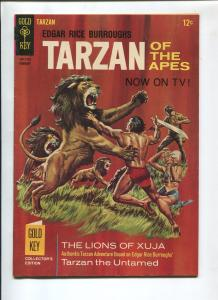 TARZAN #164 1967-GOLD KEY-EDGAR RICE BURROUGHS-VF