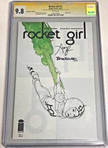 ROCKET GIRL #1 CGC-SS 9.8 *DIMENSION X  SIGNED 2X AMY REEDER & MONTCLARE 2013