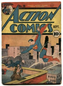 Action #28 1940-DC Golden Age-Superman-Lois Lanet-John Zatara- G+
