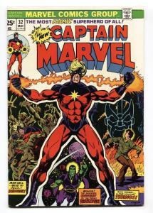 Captain Marvel #32 comic book-thanos-starlin-high grade-1974 vf+