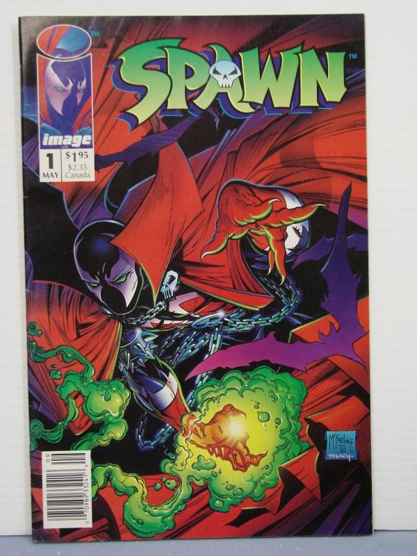 Spawn #1 Rare Newsstand Edition UPC Variant Image Comics 1992 MOVIE SOON F/VF!!!