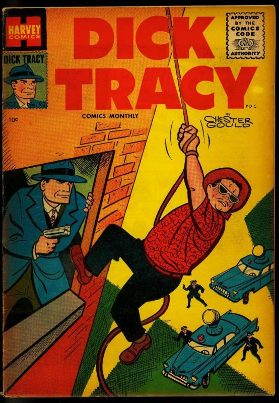 Dick Tracy #92 1955- Harvey Comics- Chester Gould- Girl Friday FN-