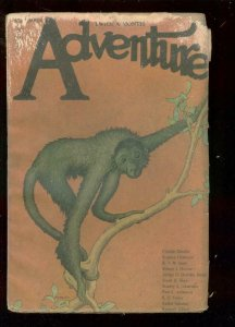 ADVENTURE PULP-SEPT 18 1921-RARE MONKEY COVER-SABATINI  FR/G