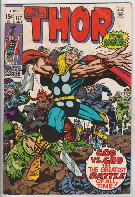 Thor, the Mighty #177 (Jun-70) VG/FN+ Mid-Grade Thor