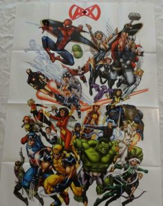 A + X AVENGERS X-MEN Promo Poster, 24 x 36, 2012, MARVEL, Unused 276