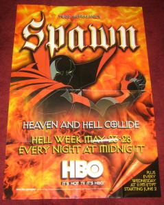 Todd McFarlane's Spawn poster 40 x 27 HBO show 1999