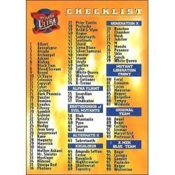 1995 Fleer Ultra X-Men CHECKLIST #150