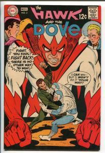 HAWK AND THE DOVE #2 1968-DC COMICS-BLACK COVER-STEVE DITKO-fn minus