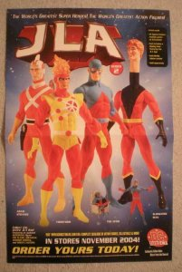 JLA ACTION FIGURES Promo Poster, ATOM, 2004, Unused, more in our store