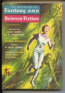Magazine of Fantasy & Science Fiction 12/1958-Mercury-EMSH horror cover-Asimo...