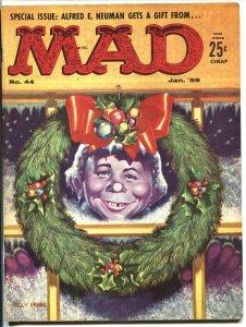 MAD #44 VF ALFRED E NEUMAN CHRISTMAS COVER-WOOD-ORLANDO-MARTIN-1959