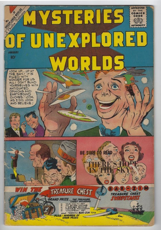 Mysteries of Unexplored Worlds, #22, Jan. 1960, Ditko Cover & Art