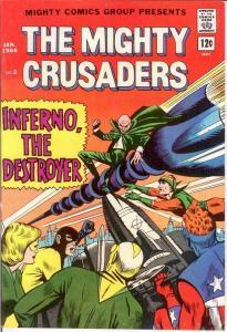 MIGHTY CRUSADERS (1965-1966 MIGHTY) 2 VF  January 1966 COMICS BOOK