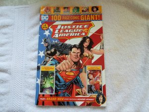 DC COMIC JUSTIC LEAGUE OF AMERICA 100 PAGE COMIC GIANT # 1 ( 2018 )