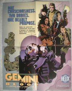 GEMINI BLOOD Promo poster, 17 x 22, 1996, Unused, more in our store