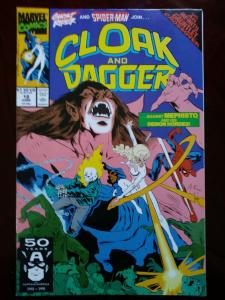 Cloak and Dagger #18 (Jun 1991, Marvel) Spider-Man Ghost Rider Thanos