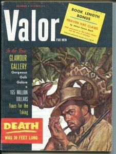 Valor 12/1958-pulp-Va-Va-Voom Girls-Sharon Walton-Ambrose Bierce-FN