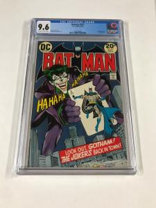 Batman 251 Cgc 9.6 Ow/w Pages Famous Joker Cover Neal Adams Dc Comics