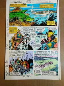 King Conan #2 page 10 Color Guide by George Roussos