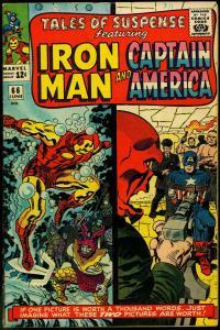 Tales Of Suspense #66 1965- Origin of RED SKULL- Iron Man Hitler VG+