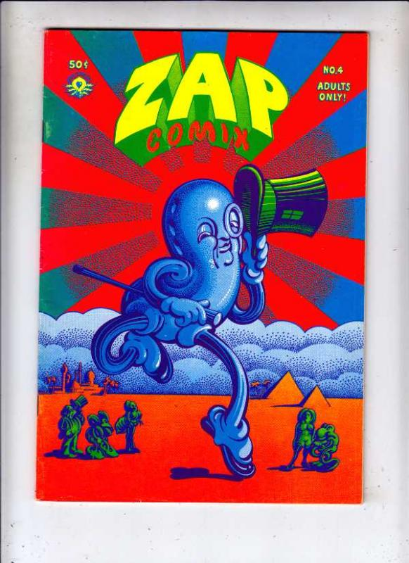 Zap #4 (Jan-68) VF High-Grade Mr. Natural, Flakey Font, Wonder Wart Hog, the ...