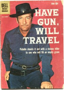 HAVE GUN WILL TRAVEL #4-1960-RICHARD BOONE--TV SERIES PHOTO COVER-DELL