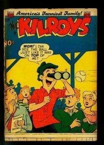 Kilroys #43 1953- Golden Age Humor- Baseball cover- G-