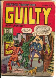 Justice Traps The Guilty #18 1950-Jack Kirby-Simon-Severin-Elder-crime cover-FR