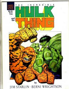 The Incredible Hulk and the Thing Marvel TPB Graphic Novel Comic Book J342