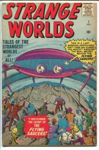 STRANGE WORLDS #1-1958-ATLAS-BILL EVERETT-STEVE DITKO-1ST ISSUE-HECK-vg