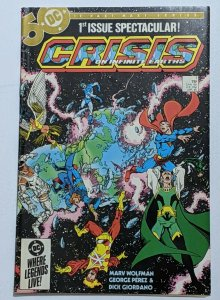 Crisis On Infinite Earths #1 (Apr 1985, DC) FN+ 6.5  1st app Blue Beetle in DC