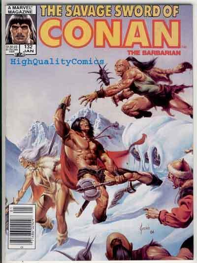 SAVAGE SWORD of CONAN #132, VF, Kull the Conqueror, Joe Jusko, Ernie Chan