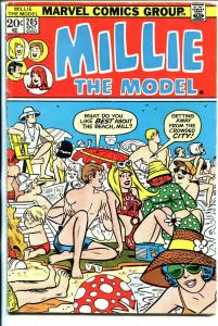 Millie The Model #205 1973-swim suit beach scene cover-fashion pages-VG