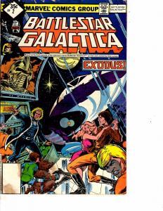 Lot Of 2 Marvel Comic Books Battlestar Galactica #2 and Star Trek X-Men #ON2