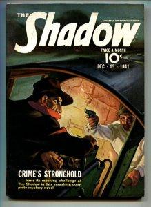 SHADOW 1941 DEC 15-high grade- STREET AND SMITH-RARE PULP vf+