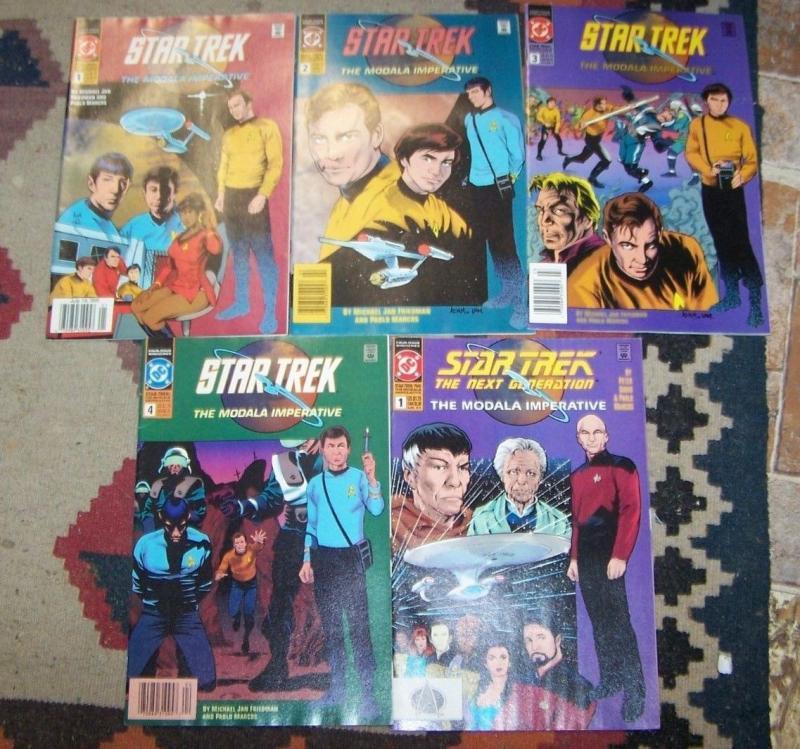 Star Trek - The Modala Imperative #1 2 3 4 + next generation # 1 ( 1991, DC)