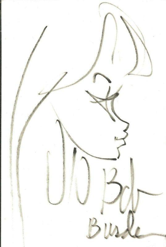 Bob Burden Signed Original Art Sketch Creator of Flaming Carrot Mystery Men