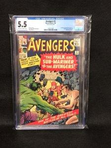 Avengers #3 (Marvel, 1964) CGC 5.5