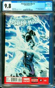 Amazing Spider-Man #2 CGC Graded 9.8 Electro, Black Cat, Johnny Storm & Aveng...