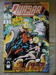 Quasar #26 (Marvel) INFINITY GAUNTLET MOONDRAGON THANOS 1991