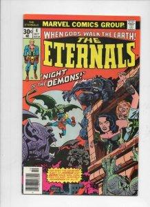 ETERNALS #4, FN/VF, Jack Kirby, Marvel, Night of the Demons, 1976