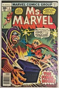 MS. MARVEL#4 VF 1977 BRONZE AGE COMICS