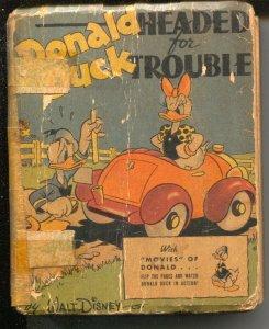 Donald Duck Headed For Trouble #1430 1942-Big Little Book-Whitman-Al Taliferro-P
