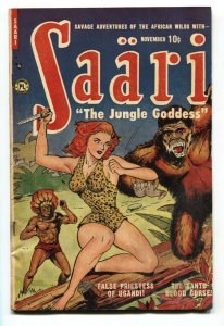 SAARI #1 1951-Jungle Golden-Age comic book GGA-Headlights