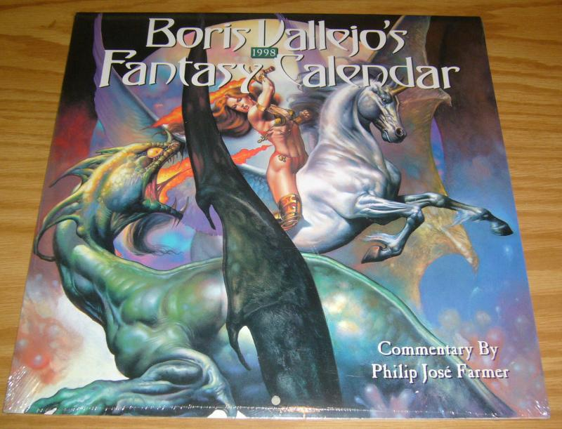 Boris Vallejo's 1998 Fantasy Calendar #1 NEW - SEALED fantasy sword sorcery