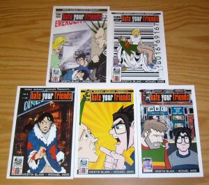 Hate Your Friends #1-5 VF/NM complete series 2003 SPACE MONKEY kristin blank