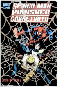 SPIDERMAN PUNISHER SABRETOOTH in DESIGNER GENES Graphic Novel Marvel Comics 1993